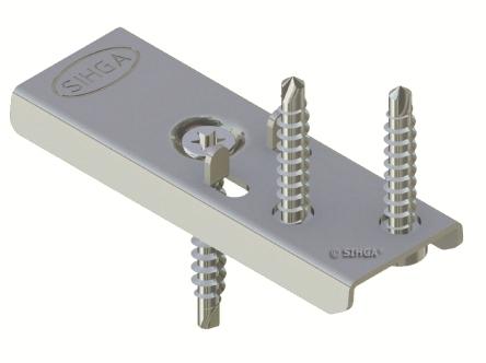 300 Stück Edelstahl DielenFix DF17 zur unsichtbaren Befestigung von Terrassenholz, ausreichend für ca. 50-75 lfm mit einer Stärke von 19-21 mm