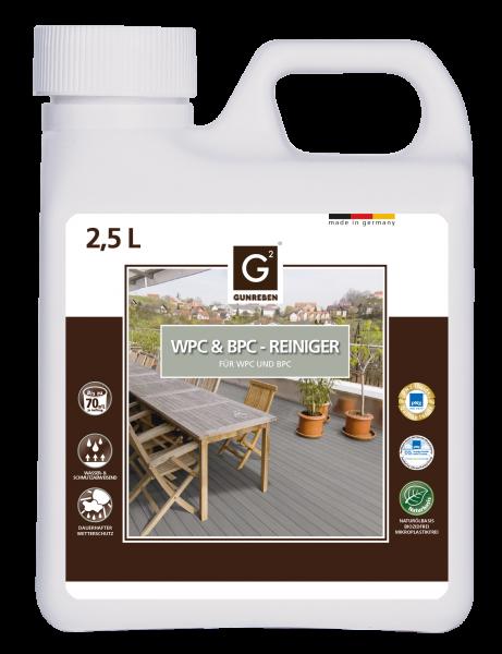 WPC Reiniger von Gunreben, Kanister mit 2,5 Liter ist ausreichend für ca. 20-40 m²