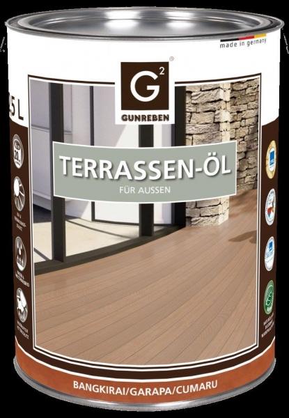 Garapa Öl von Gunreben, 2,5 Liter Terrassendielen Öl ausreichend für ca. 20-25 m²