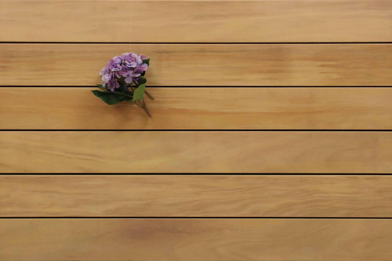 Garapa Terrassendielen, glatt, 25 x 145 bis 6100 mm, Premium (KD) für 11,80 €/lfm