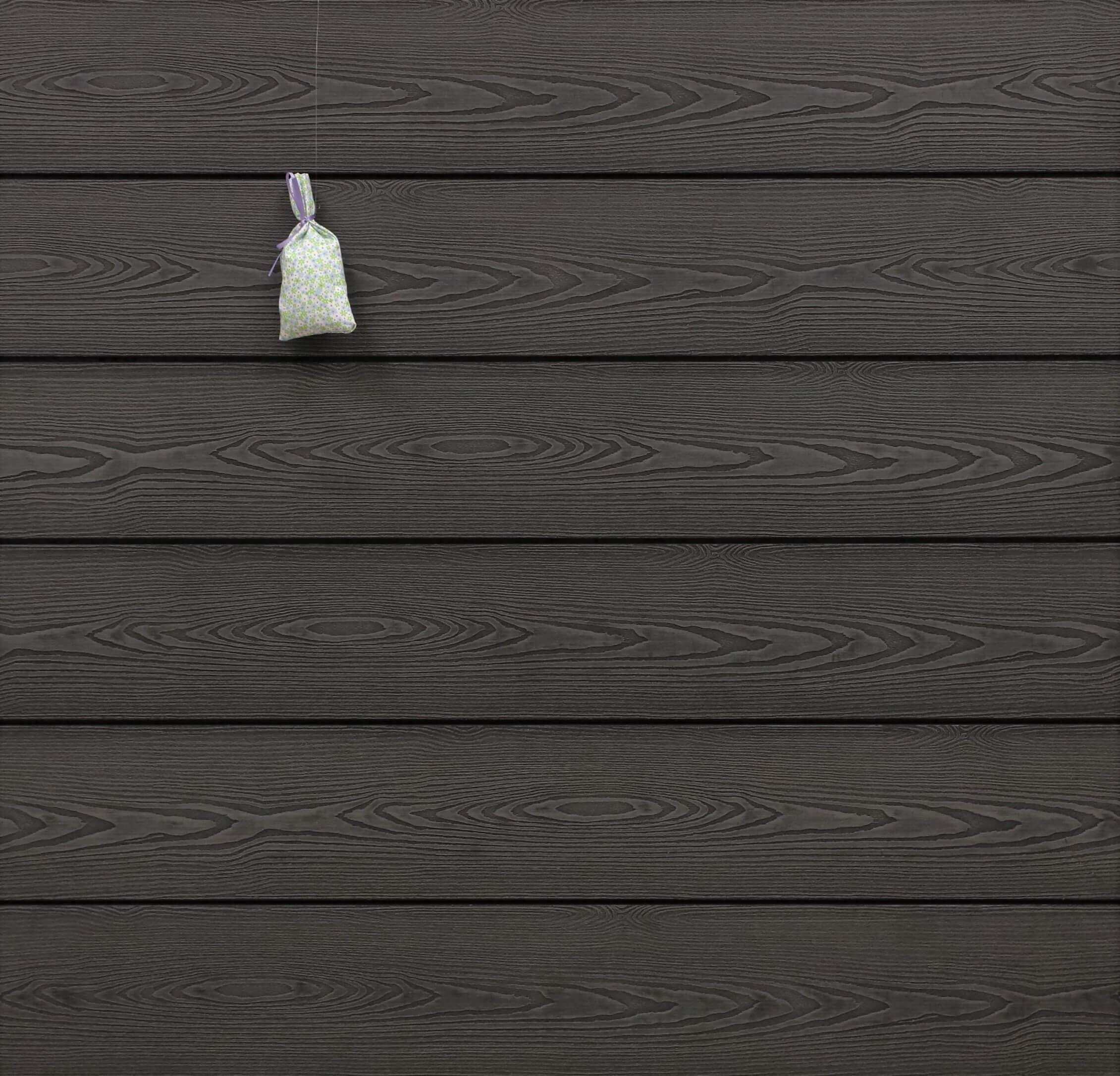 WPC Terrassendielen massiv, dunkelgrau, 3D Struktur in Holzoptik, 22 x 143 bis 4800 mm, Vollprofil für 9,50 €/lfm