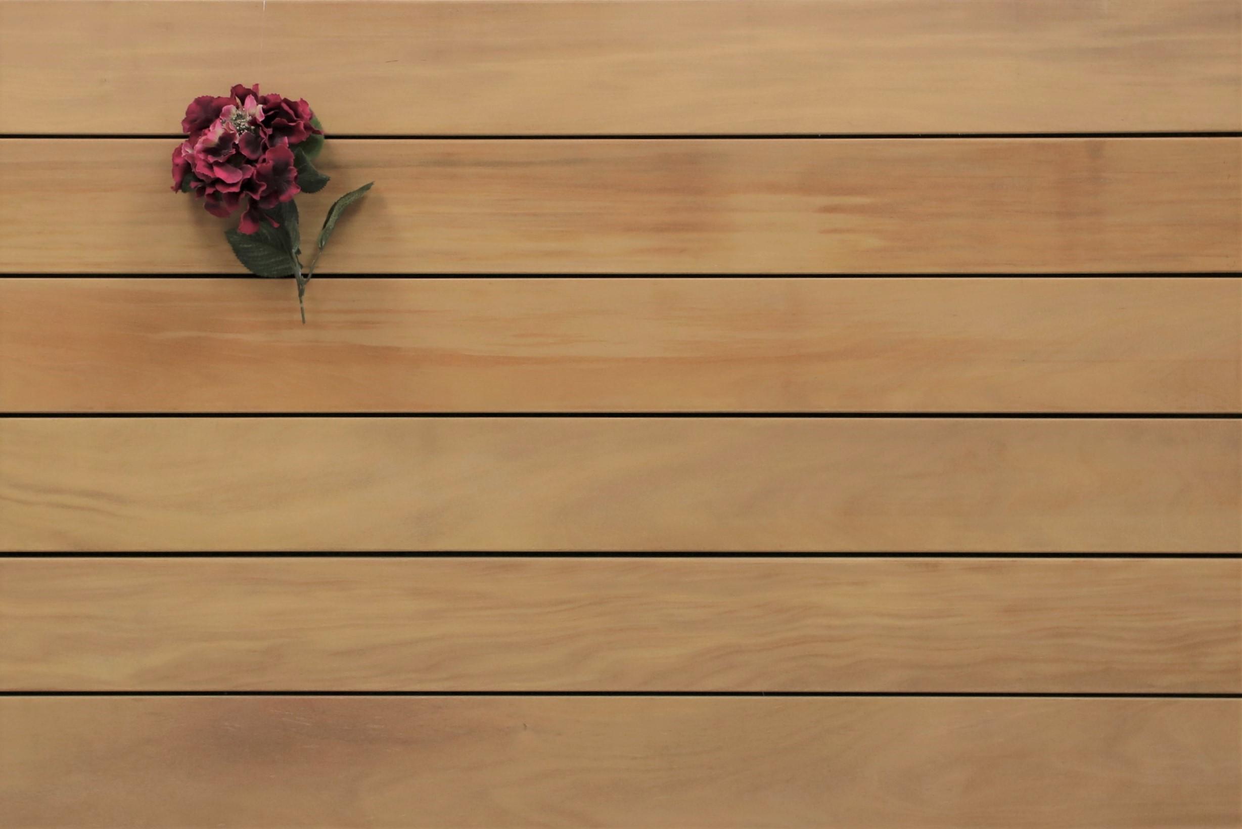 Garapa Terrassendielen, glatt, 45 x 145 bis 6100 mm, Premium (KD) für 21,90 €/lfm