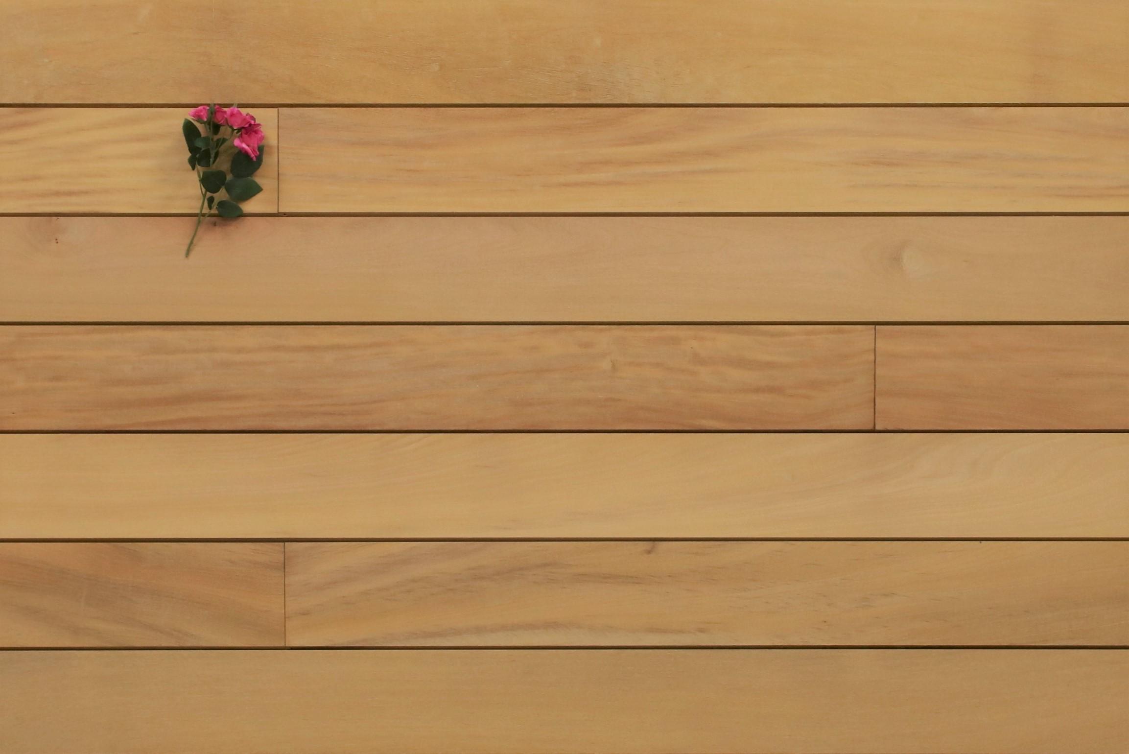 Garapa Terrassendielen, glatt, mit Wechselfalz und stirnseitig Nut / Feder Verbindung, 21 x 125 bis 2750 mm, Premium (KD) für 8,90 €/lfm