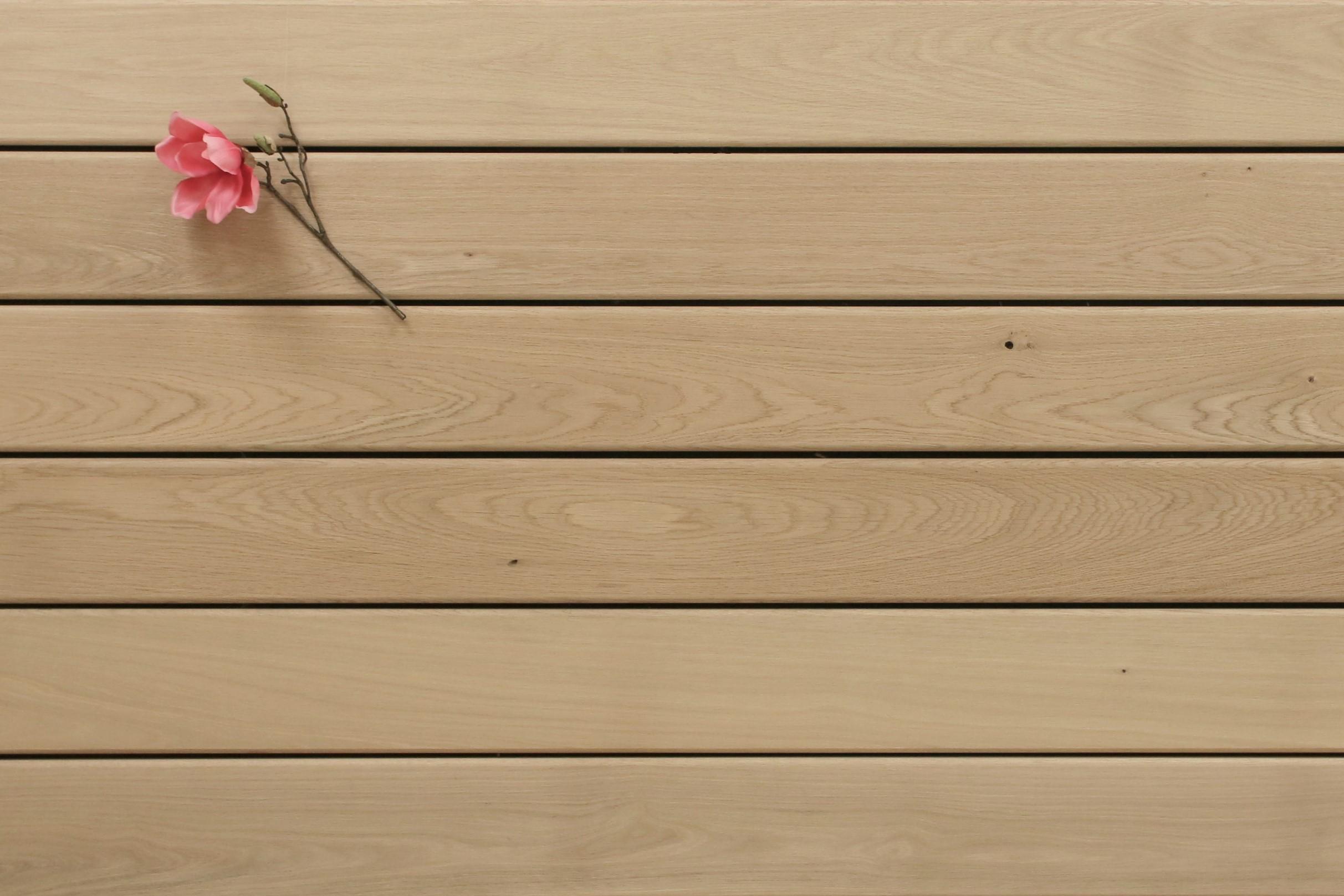 Eiche Terrassendielen, glatt, Sonderanfertigung, 25 x 140 bis 4000 mm für 10,90 €/lfm
