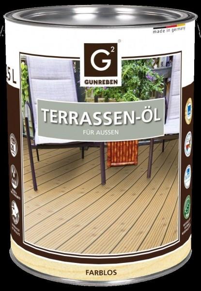 Natur Öl von Gunreben, 2,5 Liter Terrassendielen Öl ausreichend für ca. 20-25 m²