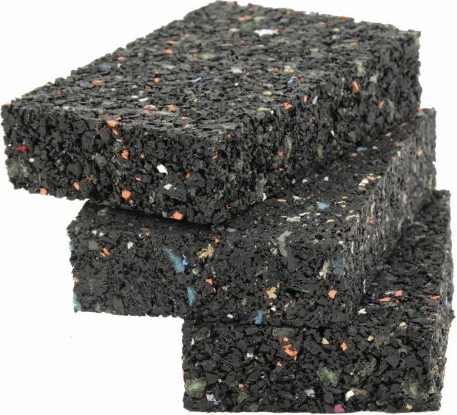 20 Stück Gummigranulat Terrassenpads ca. 20 x 40 x 80 mm ausreichend für ca. 5-10 lfm Unterkonstruktion