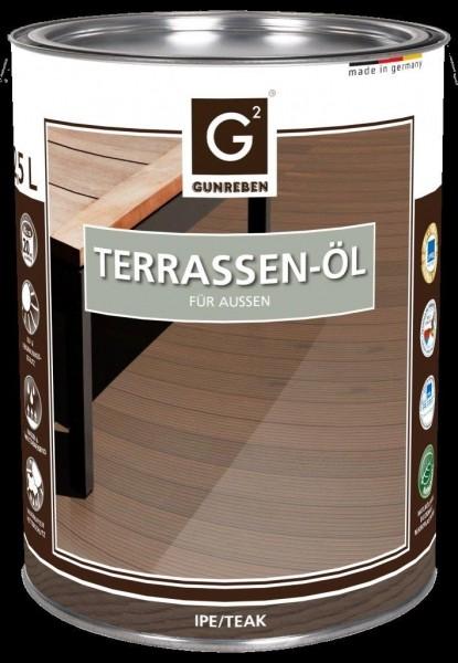 Ipe Öl von Gunreben, 2,5 Liter Terrassendielen Öl ausreichend für ca. 20-25 m²