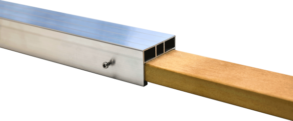 Holz Verbindungselement für 24 x 58 mm Alu Unterkonstruktion