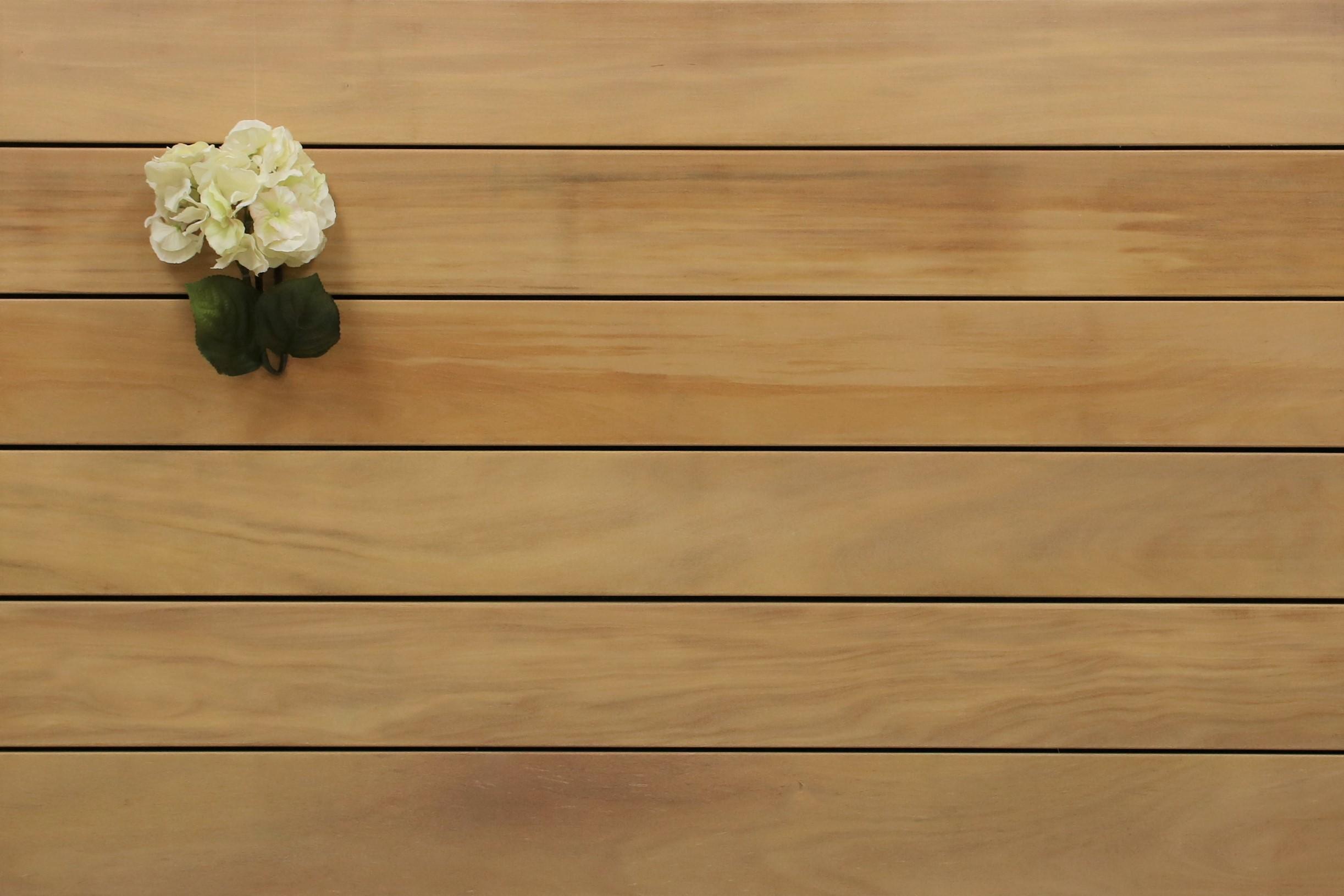 Angebot des Monats, Garapa Terrassendielen, glatt, 21 x 145 bis 6100 mm, Premium (KD) für 8,90 €/lfm