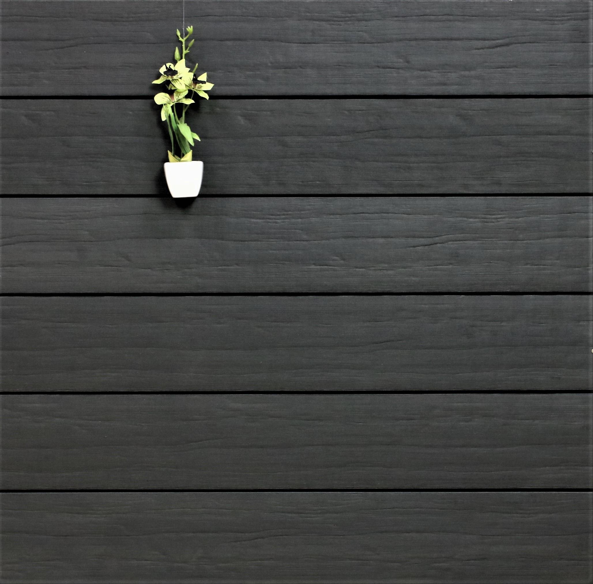 WPC Terrassendielen massiv, anthrazit, antik gealtert, 22 x 143 bis 4800 mm, Vollprofil für 9,95 €/lfm