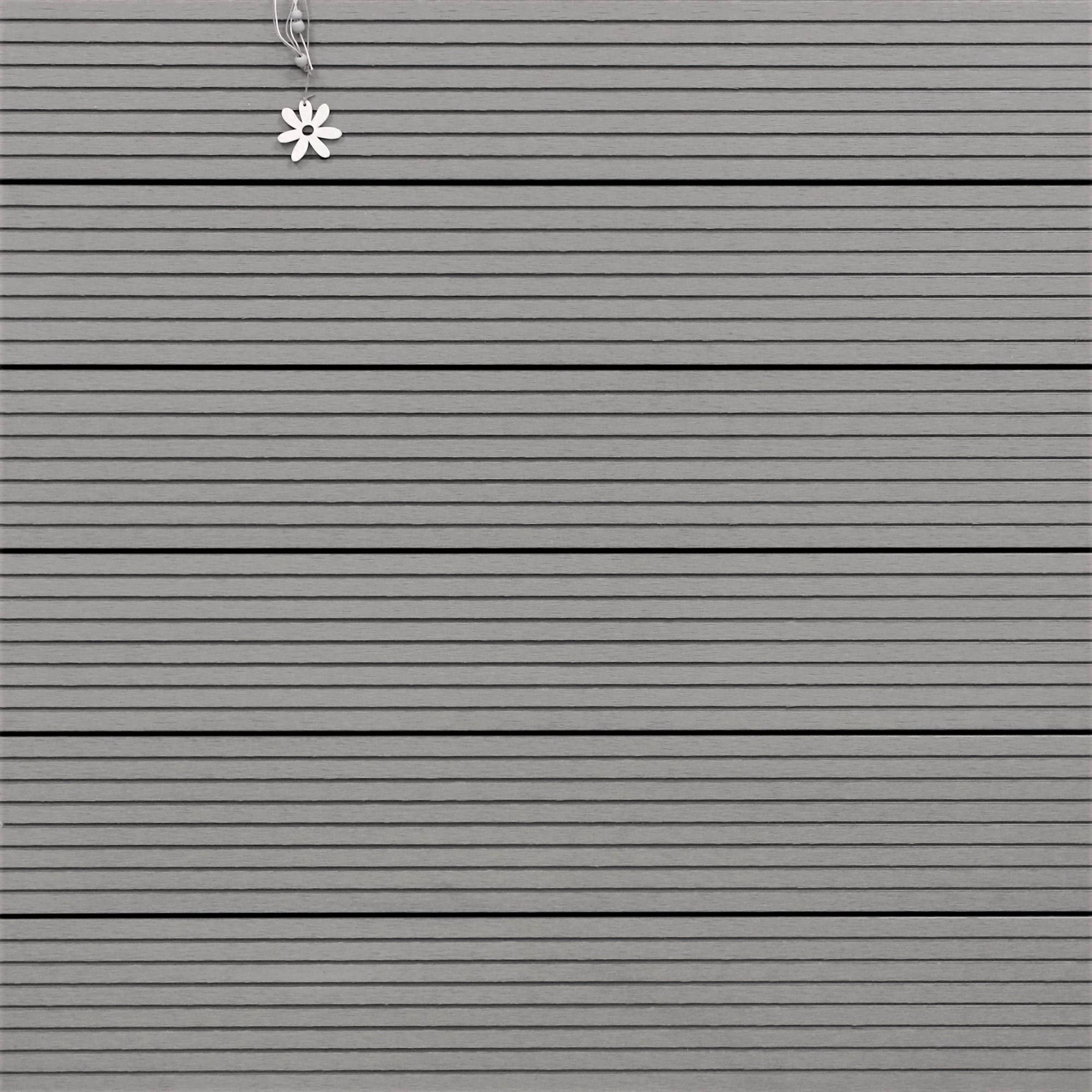 WPC Terrassendielen massiv, hellgrau, grob genutet, 22 x 143 bis 4800 mm, Vollprofil für 8,95 €/lfm