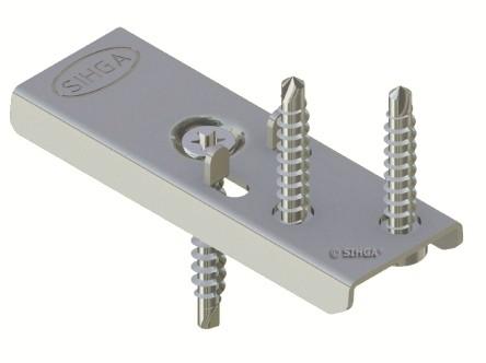 300 Stück Edelstahl DielenFix DF22 zur unsichtbaren Befestigung von Terrassenholz, ausreichend für ca. 50-75 lfm mit einer Stärke von 24-27 mm