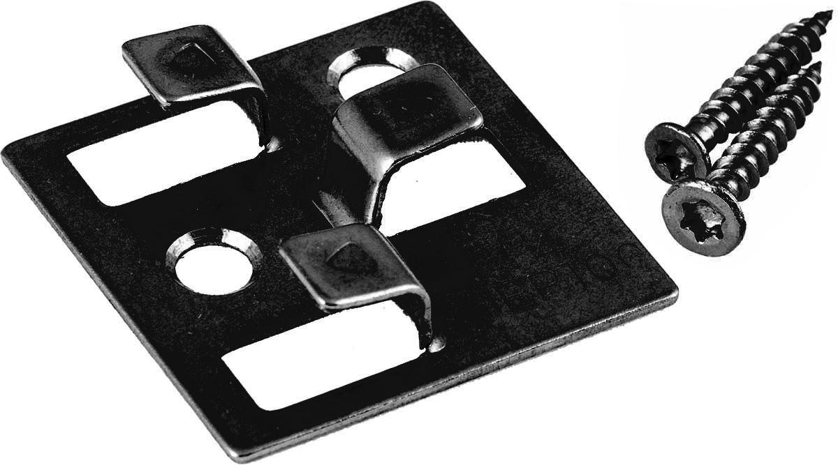 100 Stück Gunreben WPC Befestigungsclips schwarz aus Edelstahl, 4 mm Fugenabstand, inklusive Schrauben, ausreichend für ca. 35 lfm bzw. 5 m