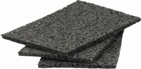 50 Stück Gummigranulat Terrassenpads ca. 3 x 40 x 80 mm ausreichend für ca. 12-25 lfm Unterkonstruktion