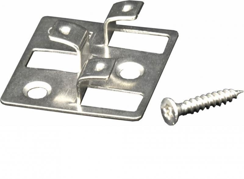 100 Stück Gunreben WPC Befestigungsclips aus Edelstahl, 4 mm Fugenabstand, inklusive Schrauben, ausreichend für ca. 35 lfm bzw. 5 m²